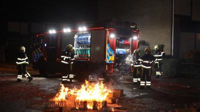 Brandweer doofde vreugdevuur op Europalaan in Boxtel