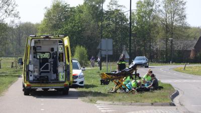 Foto van ongeval met motorrijder