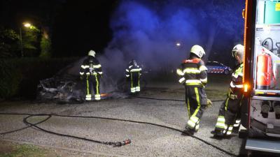Foto van uitgebrande auto
