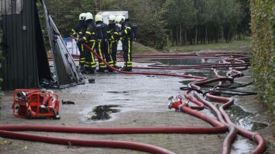 Brandweer blust brand