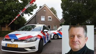 Politieauto's voor woning waar misdrijf is gepleegd