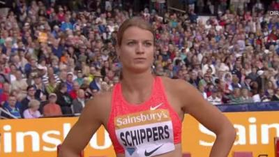 Zilver voor Dafne Schippers 100 meter