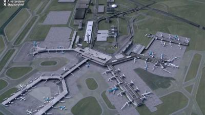 Vlieg mee in fraaie digitale animatie 100 jaar Schiphol