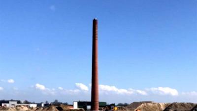 Philips Schoorsteen na 1 april 450 meter verplaatst