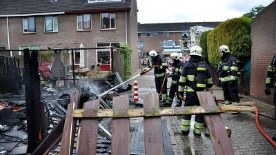 Foto van brand in schuur Woerden | Alex Hoogman