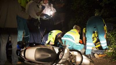 Foto van ongeval scooter | Sander van Gils | www.persburosandervangils.nl