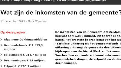 Screenshot gemeente A'dam begroting | Gem. Amsterdam
