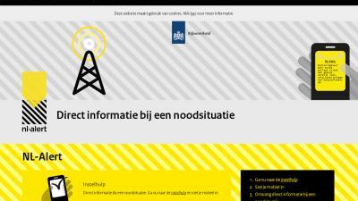 Screenshot van NL-Alert | NL-Alert