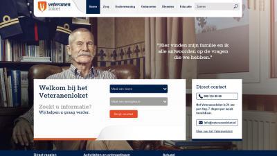 Screenshot van website veteranenloket.nl   veteranenloket.nl