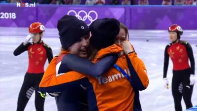 Diskwalificaties leveren bronzen medaille op voor Nederlandse shorttracksters