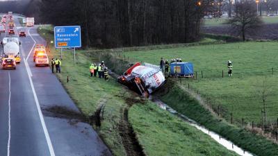 foto van ongeval vrachtauto | Willy Smits | www.112journaal.nl