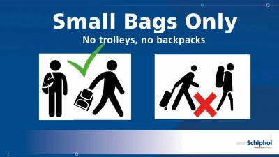 'Small bags only' doorgangen op Schiphol langer en vaker open