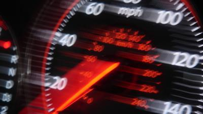Foto van snelheidsmeter