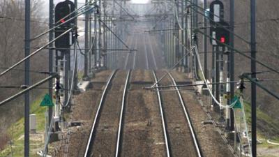 Foto van spoor trein rails perspectief | Archief EHF