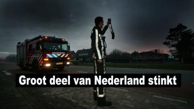 Penetrante lucht in grote delen van Nederland