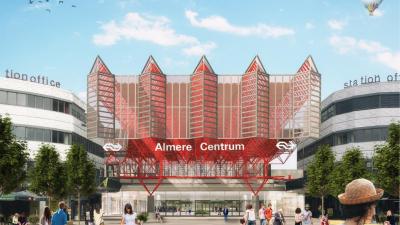 Impressie nieuwe station Almere Centrum