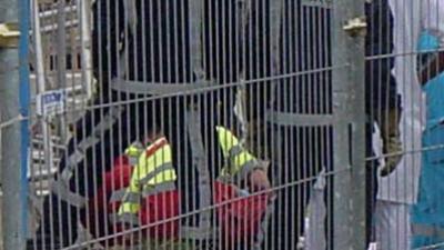 Dode door omgevallen bouwsteiger in Den Haag
