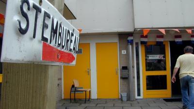 Foto van stembureau | Archief EHF