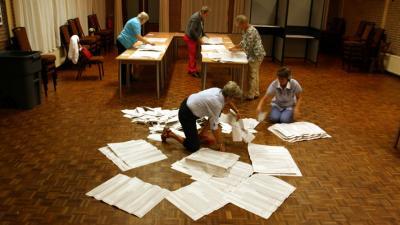 Stemmen zullen met de hand geteld worden komende verkiezingen