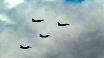 Foto van vier F-16's | Archief FBF