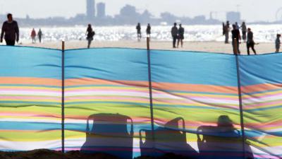 Stranden waren rustig ondanks lekkere weer in coronatijd