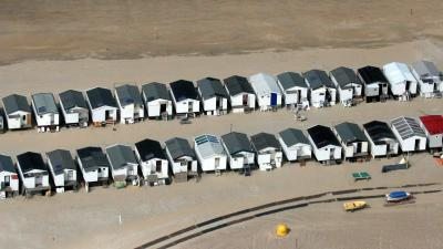120 standhuisjes opengebroken in Zoutelande