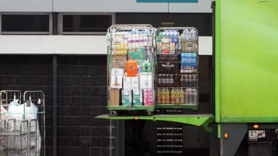 supermarkt-laadklep-fles