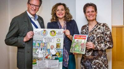 Suske en Wiske ingezet in strijd tegen antibioticaresistentie bij dieren