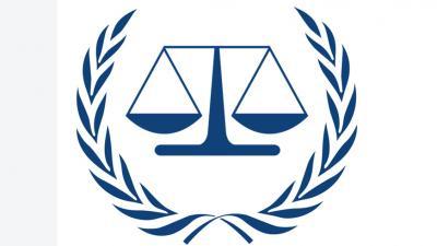 Foto van symbool van Internationaal Strafhof   Int. Strafhof
