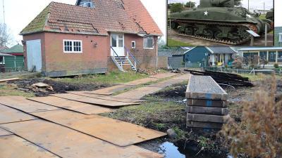 Canadese tank teruggevonden onder oprit in Paterswolde