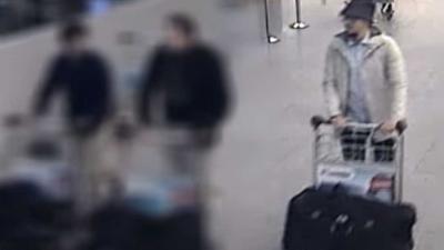 Bewegende beelden vrijgegeven terreurverdachte met hoedje