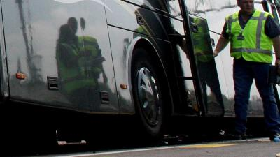 Foto van touringcar politie | Archief EHF