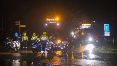 tractor-politie-motor-donker