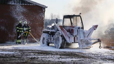Landbouwvoertuig verwoest door brand in Sint-Oedenrode