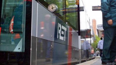 Foto van tram halte RET Rotterdam | Archief EHF