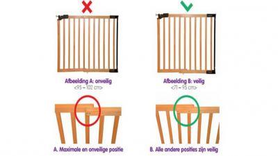 Prénatal waarschuwt voor verstikkingsgevaar bij traphekje