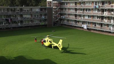 Inzet traumahelikopter voor gevallen persoon
