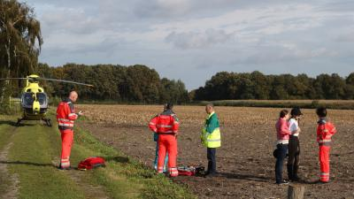 Foto van traumaheli en ruiter | Willy Smits | www.112journaal.nl
