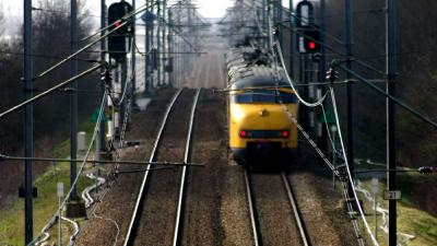 Foto van trein in perspectief   Archief EHF