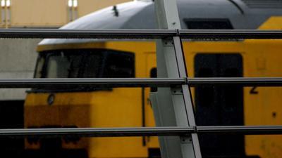 Foto van trein op station   Archief EHF