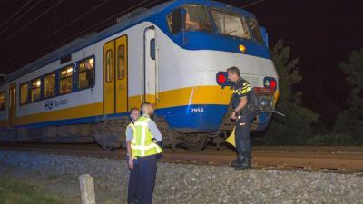 Man die voorbij razende trein dwingt te stoppen loopt hoofdletsel op