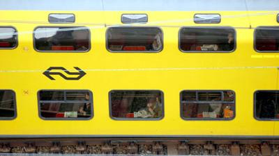 Foto van trein passagiers   Archief EHF