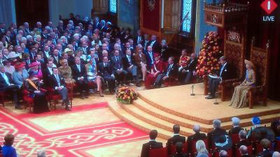 Foto van troonrede door Willem-Alexander | NOS