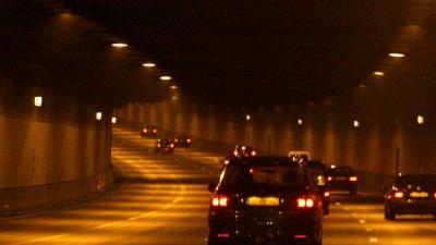 Foto van tunnel auto verlichting | Archief EHF
