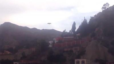 Ufo boven gebergte in Bolivia gespot