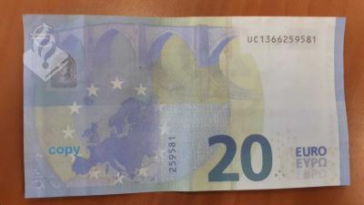Vals biljet 20 euro