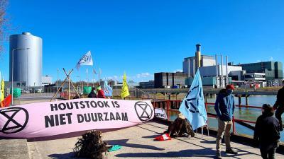 demonstratie bij biomassacentrale Vattenfall