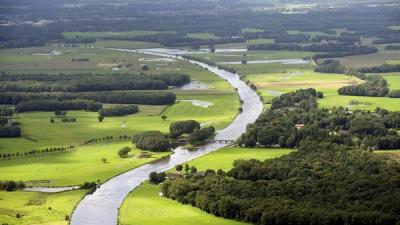 Foto van Hoogwater in de Vecht | Waterschap Groot Salland