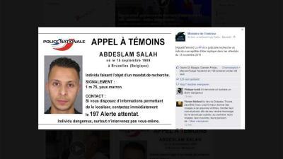 Franse politie opent klopjacht en geeft foto verdachte aanslagen vrij