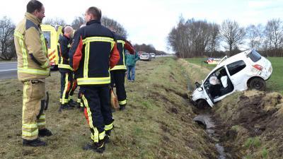Gewonde bij eenzijdig ongeval A28